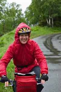 Backroads Multisport Adventure to Alaska. Sue on the Tony Knowles Coastal Trail.