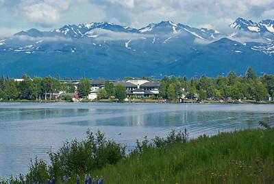 Backroads Multisport Adventure to Alaska, Millennium Hotel in Anchorage on Lake Spenard