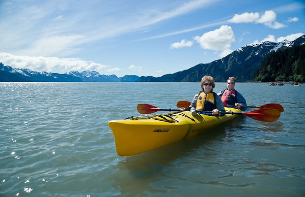 Backroads Multisport Adventure to Alaska, Sea Kayaking on Resurection Bay in Kenai Fjords National Park area