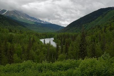 Backroads Multisport Adventure to Alaska, overlook halfway between Anchorage and Kenai Penninsula Park