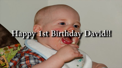 Davids 1st birthday