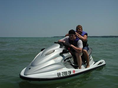 jake and jordon at east harbor beach 072302