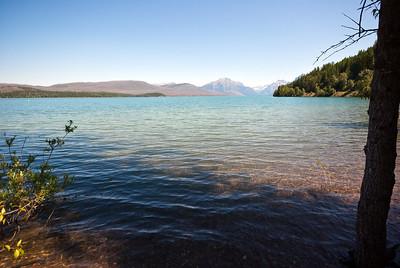 Backroads Multi-sport family camping trip, Camping at Lake McDonald near town of Apgar.