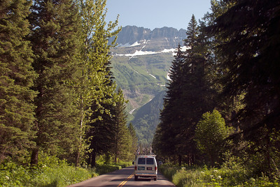 "Backroads Multi-sport family camping trip, driving the ""Going to the Sun Road""."
