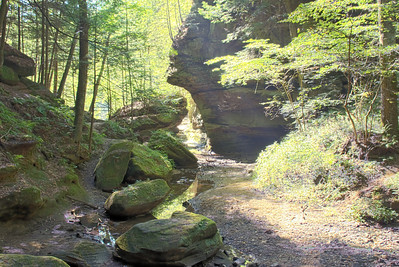 Hocking Hills Camping Old Mans Face Rock 090107