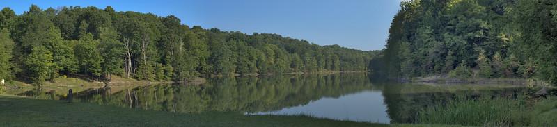 Hocking Hills Camping Rose Lake Panorama