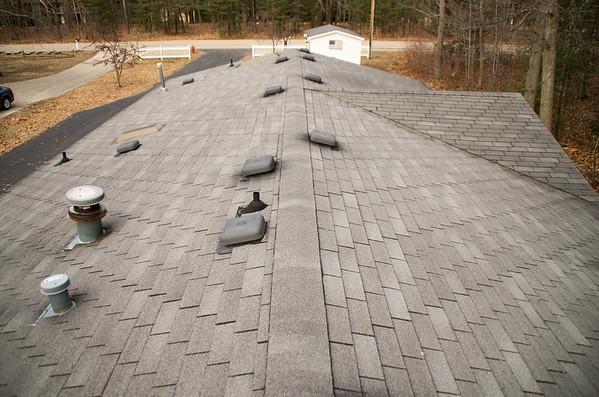 Lake House Roofing Job