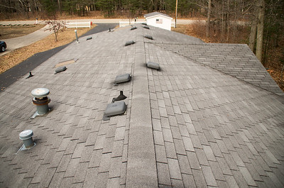 Lake House Roofing Job