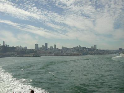 san francisco view from alcatraz boat