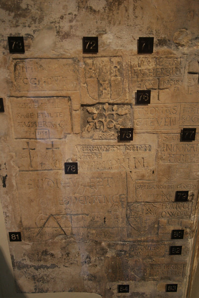 Stuff the prisoners carved in the wall... some were super old.