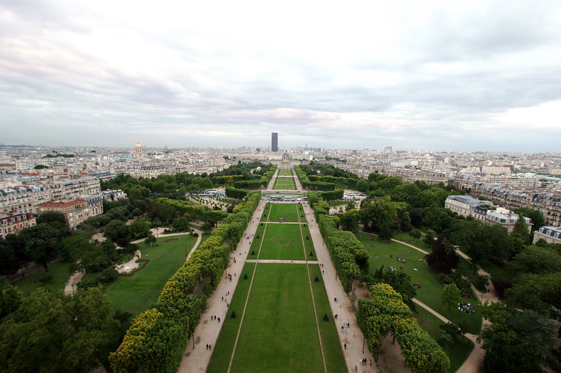 From the 2nd floor of the Eiffel tower