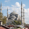 View of the Blue Mosque from the terrace of our hotel (Aren Suites)