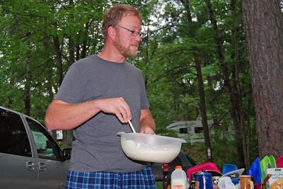 0082 BJ making pancakes at Yogi Bear Jellystone Park