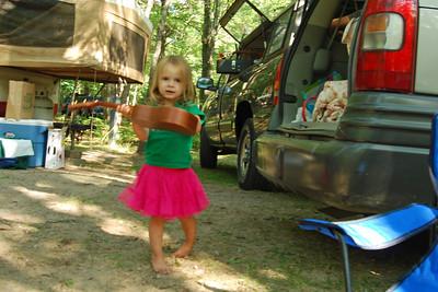 0059 Sunny and ukulele at Yogi Bear Jellystone Park