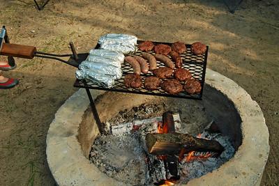 0063 A great camping meal at Yogi Bear Jellystone Park