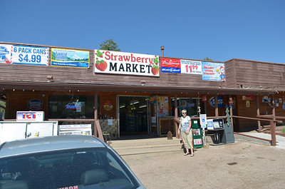 Bought some cold drinks at the Strawberry Market, in (you guessed it) Strawberry, AZ.