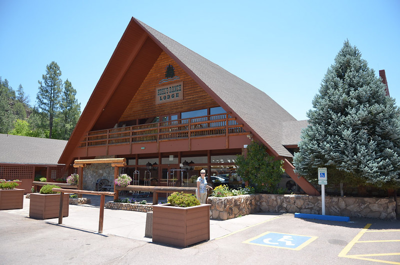 Our quick getaway up to the cool(er) country. Lunch was at the Kohl's Ranch Lodge.