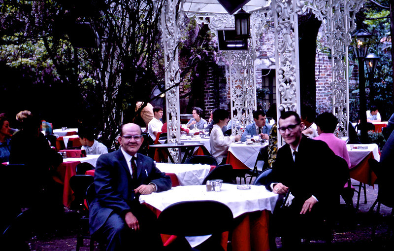 G. A. & William A. Shaffer at the Court of Two Sisters Restaurant in the French Quarter.