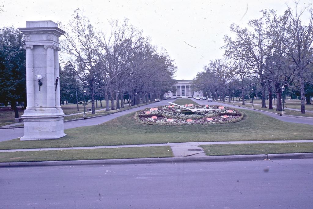 Rose Clock in City Park.