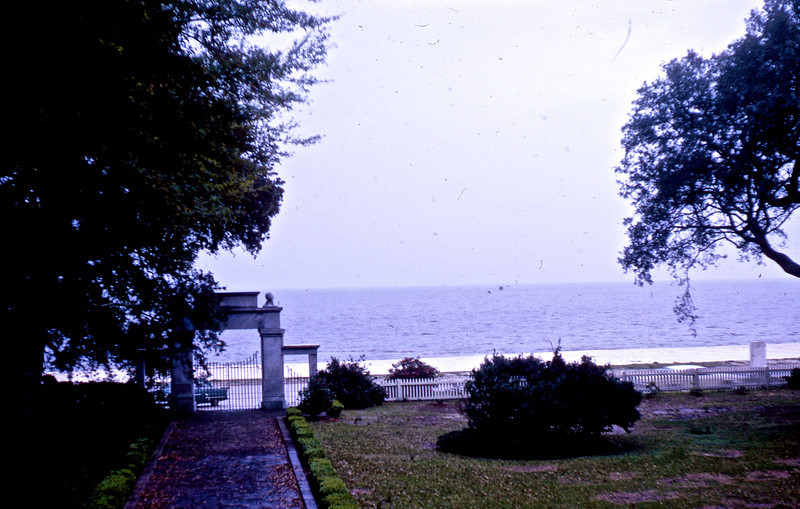 "View of Gulf of Mexico from ""Beavoir"", the last home of Jefferson Davis, in Biloxi, MS."