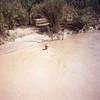 Denise swimming in the Rio Grande