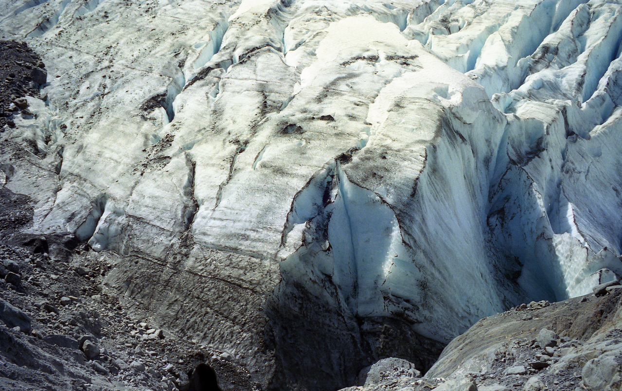 the edge of the glacier