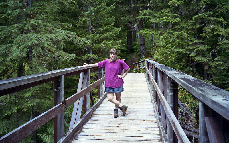 Barb on the Hoh bridge