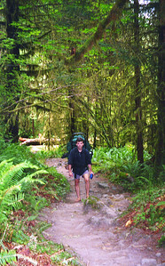 Roger - hiking barefoot as always