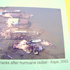 Crab shacks after hurricane Isabel - Kaye 2003. ..We also got a good dose of these hurricanes in Richmond.