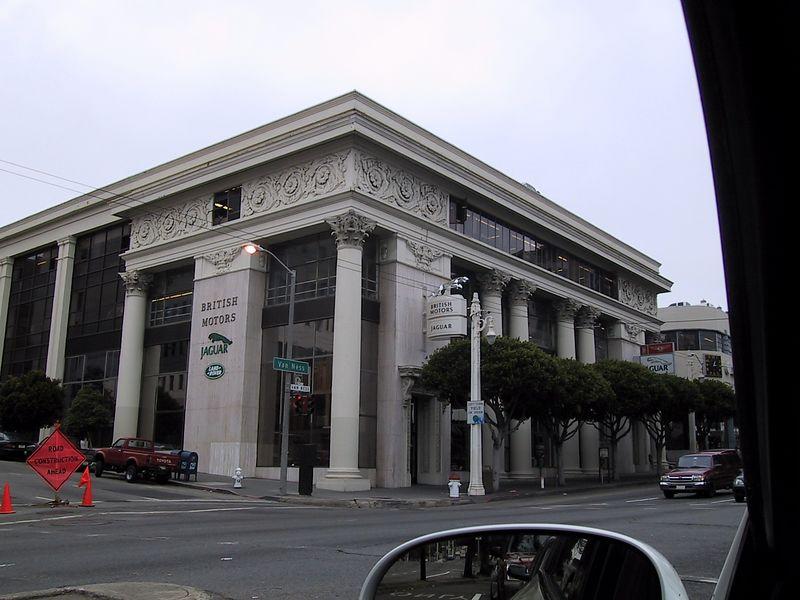 Driving through downtown SF