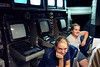 Mary and Kati at controls of Tomahawk cruise missles which fired on Baghdad, Iraq