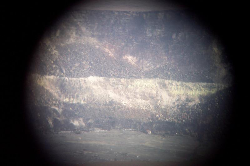 the crater edge seen through a telescope