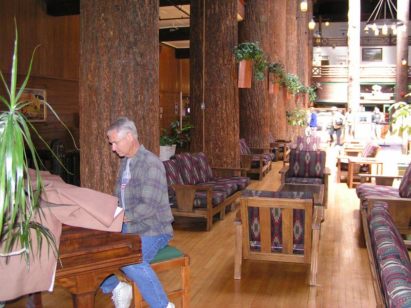 East Glacier Lodge had very few rules about who can't play their piano.  And believe me. I can't play their piano.
