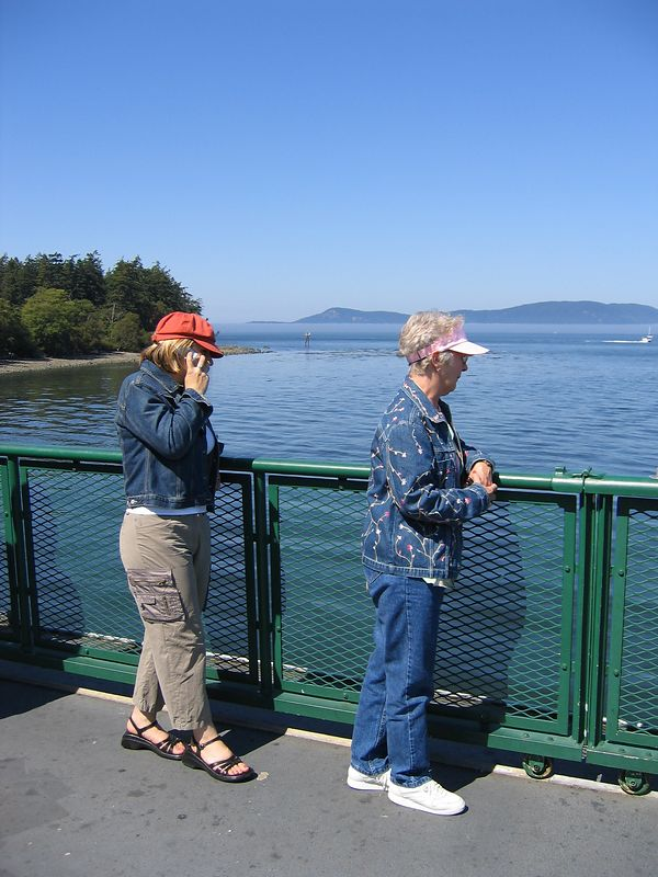 "My favorite women on board ""Chelan"", our ferry to Orcas Isalnd"