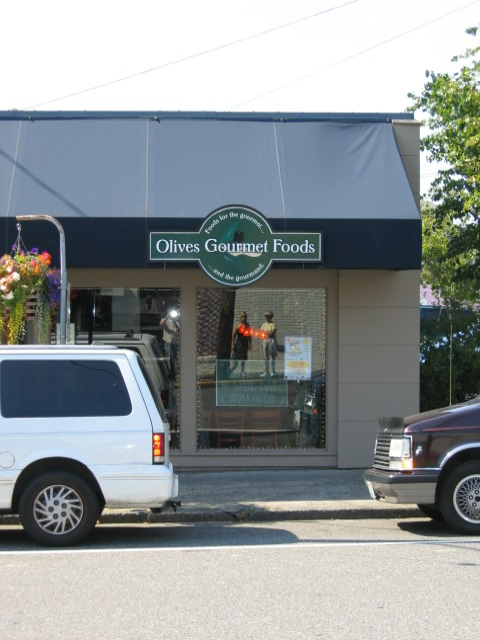 Exterior of Olives Gourmet