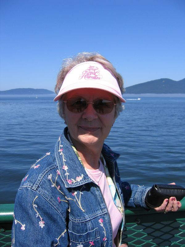 Mom on the ferry