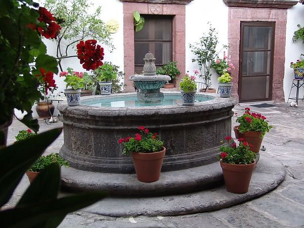 The Courtyard of our pension - Casa Carmen.  THe lunches and breakfasts that were included with our stay were fabulous.