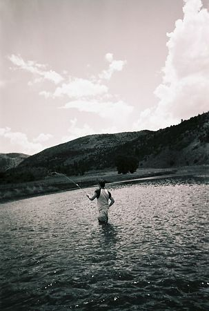 Fly fishing on the Colorado River.