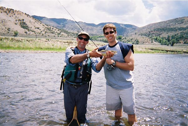 Jerry, Kip, and the only Rainbow that was caught all day.  Way to go Jerry.