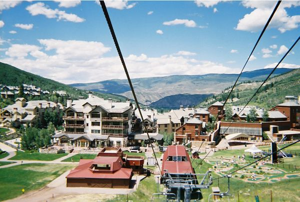 View from the lift.