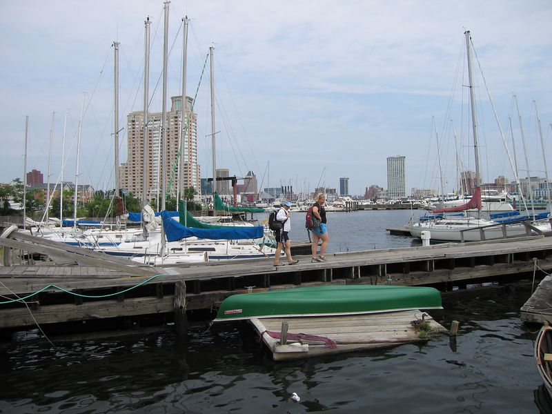 Jen and Kelly on the docks