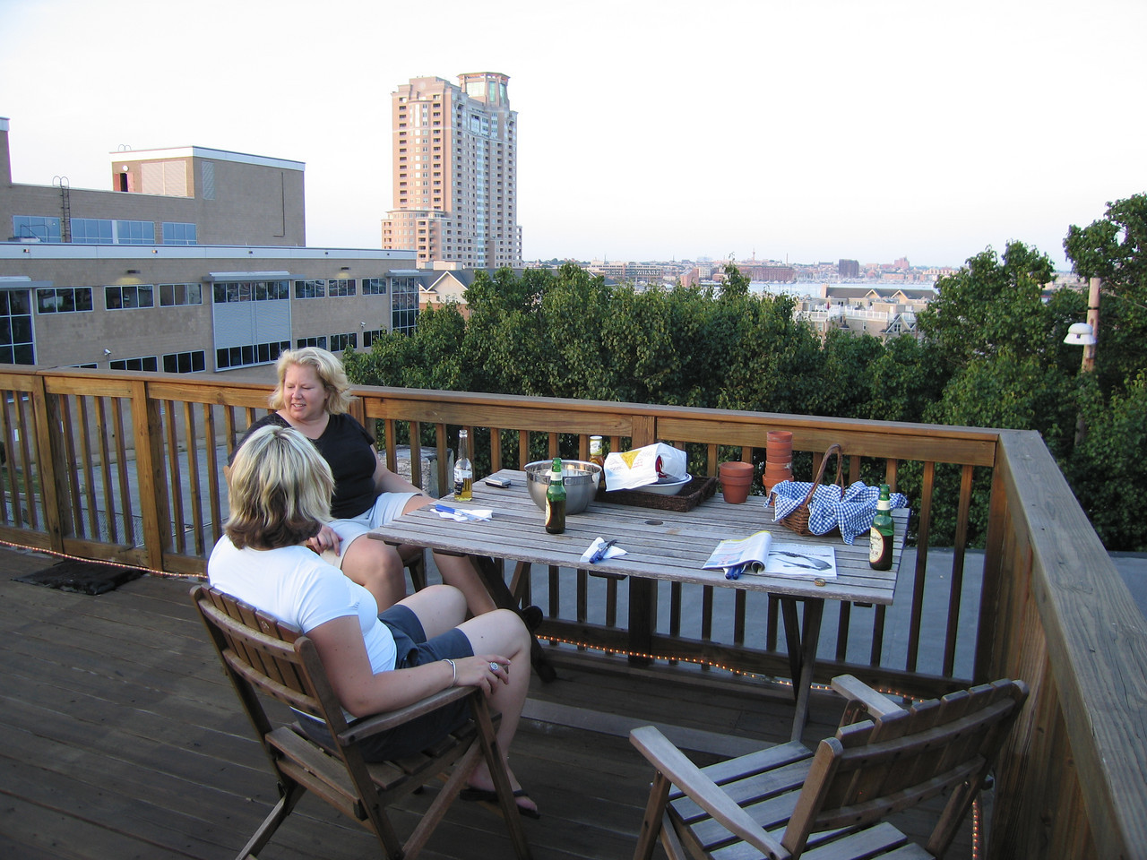 Jen's rooftop deck