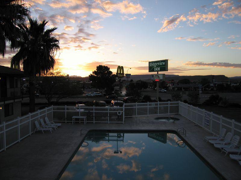Sunrise over the Ridgeview Motel