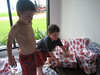Opening xmas presents in Thailand!