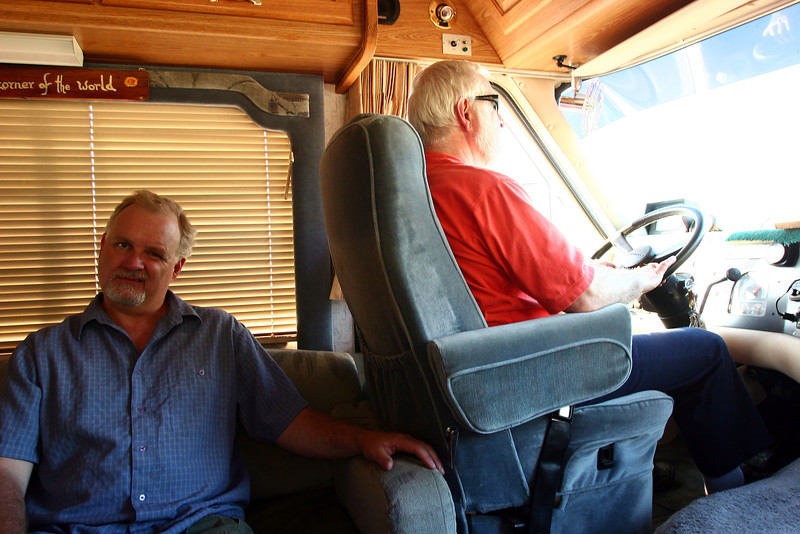 In the motorhome on the way to the Yellowstone area.