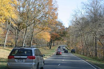 On the road near McLean.  Enjoying the beautiful fall colors.