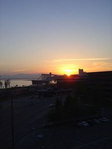 Beautiful sunset over the Puget Sound.  We were extremely fortunate because rain was in the forecast for each day we were up there.