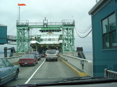 Boarding the ferry.