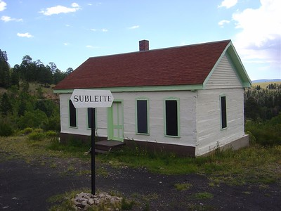 The Sublette train station.  They restored it to period colors.