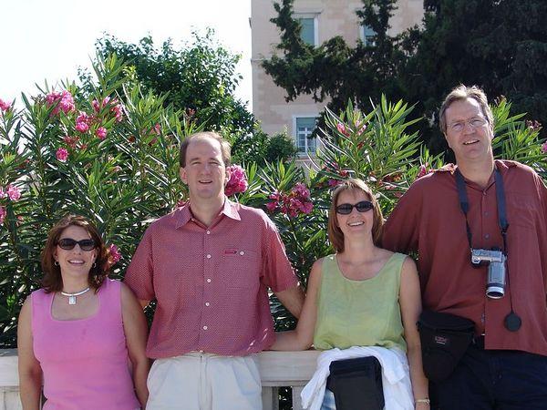 Saturday.  Exploring Athens.  Sherri, Bret, Chris and Tim.